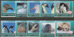 Ross Dependency Stamps SG21-31 Wildlife set of 10 (not SG24)